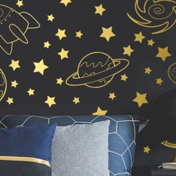 Outer Space Wall Decal Stickers