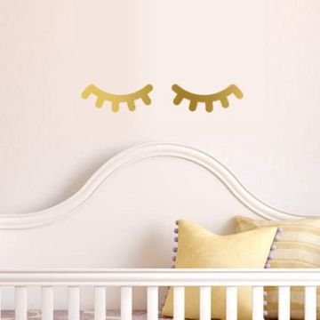 Simple Eyelashes Wall Decal Stickers
