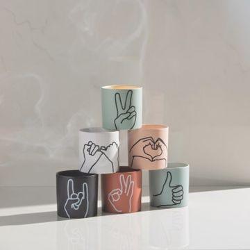 Peace Mint Ceramic Candle