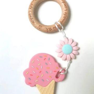 Daisy Ice Cream Teething Bracelet - Pink