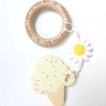 Daisy Ice Cream Teething Bracelet - Vanilla Cream