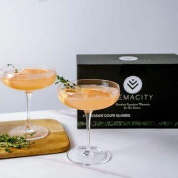 Elegant Handmade Coupe Cocktail Glasses