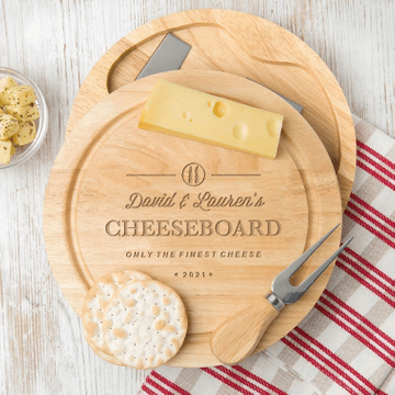 Personalised Classic Cheese Board & Knife Set