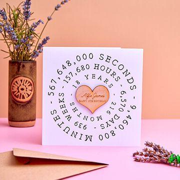 Personalised Big Birthday Time Card