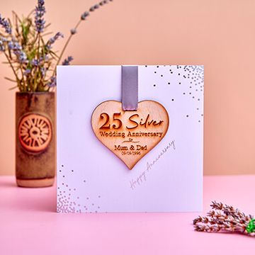 Personalised Foiled Anniversary Heart Card