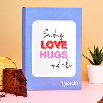 Personalised Paper Hug Cake Card