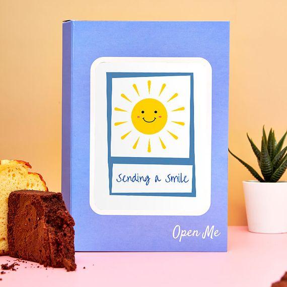 Personalised Sending a Smile Cake Card