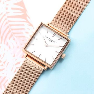 Personalised Rose Gold Square Face Watch