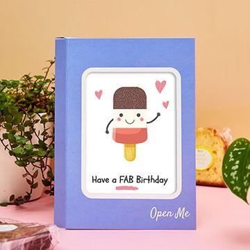 Personalised Fab Birthday Cake Card