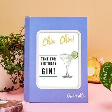 Personalised Gin Birthday Cake Card