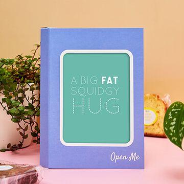 Personalised Squidgy Hug Cake Card