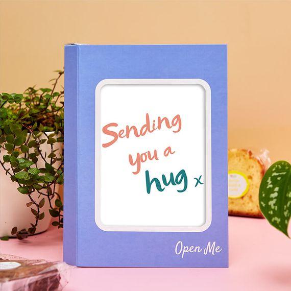 Personalised Sending a Hug Cake Card
