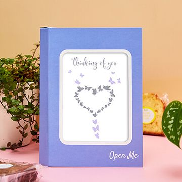 Personalised Thinking Butterfly Cake Card