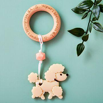 Poodle Teething Bracelet - Cream