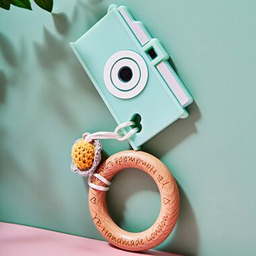 Camera Teething Bracelet -  Green