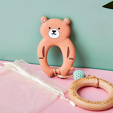 Brown Bear Teething Bracelet