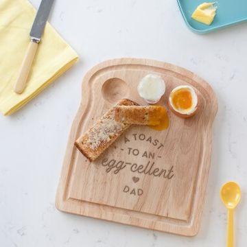 Personalised Eggcellent Dad Breakfast Egg Board