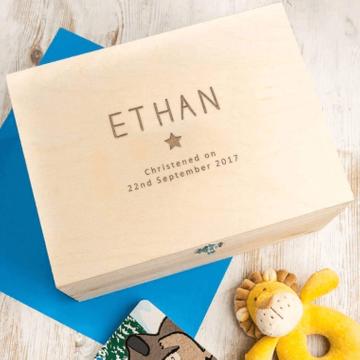 Personalised Wooden Memory Keepsake Box