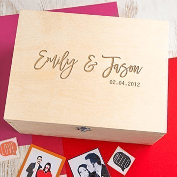 Personalised Couples Memory Keepsake Box