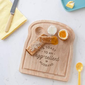 Personalised Eggcellent Partner Breakfast Egg Board
