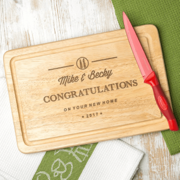 Personalised Hevea Wood Chopping Board