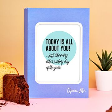 Personalised All About You Cake Card