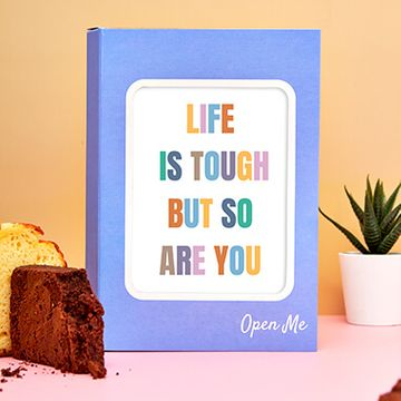 Personalised Life is Tough Cake Card