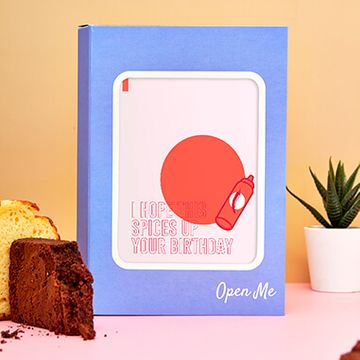 Personalised Spicy Birthday Cake Card