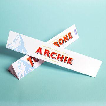 Personalised White Chocolate Toblerone Bar
